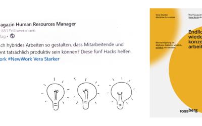 """New Work im New Normal"" Artikel im Human Resources Manager"