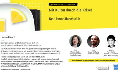 """Lemon4Lunch zum Thema """"Endlich wieder konzentriert arbeiten!"""""""